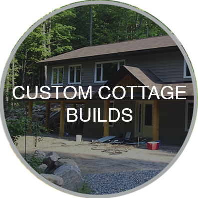 Custom built cottage under construction