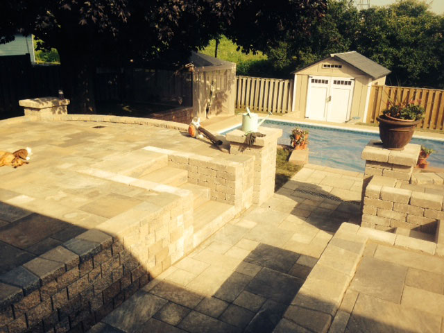 Stone Terrace Installation