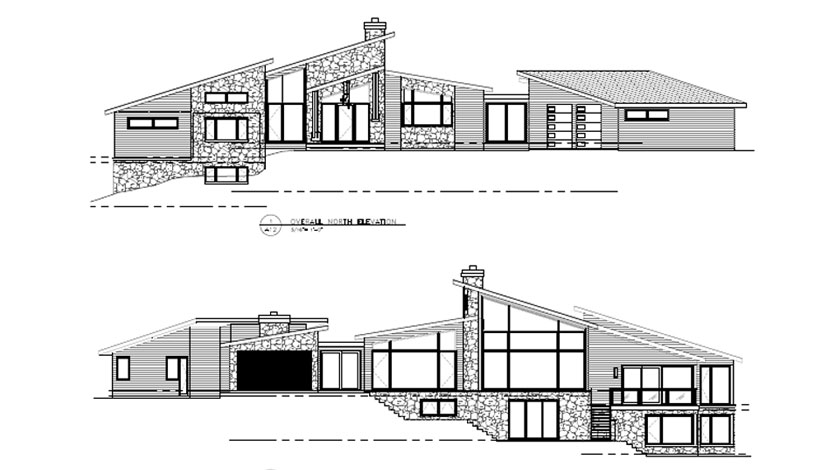 Custom Home Elevation Drawing